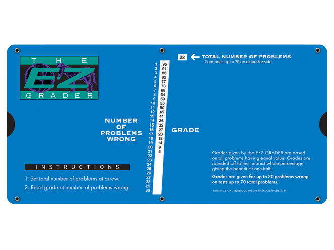 Large Print Royal Blue E-Z Grader